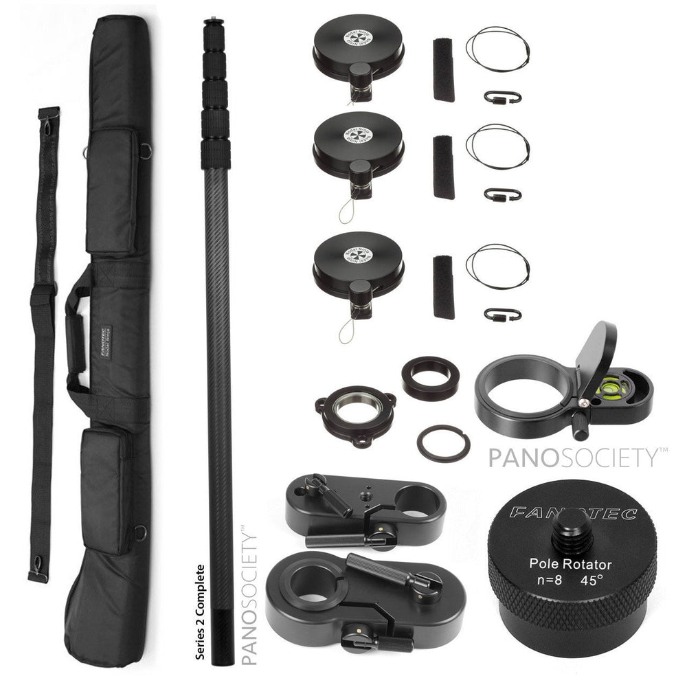 Nodal Ninja Pole Series 2 Special Bundle - 6m pole, guy wires, case, level, tripod adapter, rotator