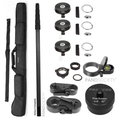 NODAL NINJA Pole Series 2 Special Bundle (BP2001) - with 6m pole, guy wires, case, level, tripod adapter and rotator