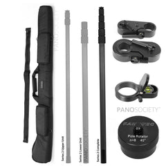 Nodal Ninja Pole Series 2 Complete Bundle 5 (P2BC) - with 6m pole, case, level, tripod adapter and rotator