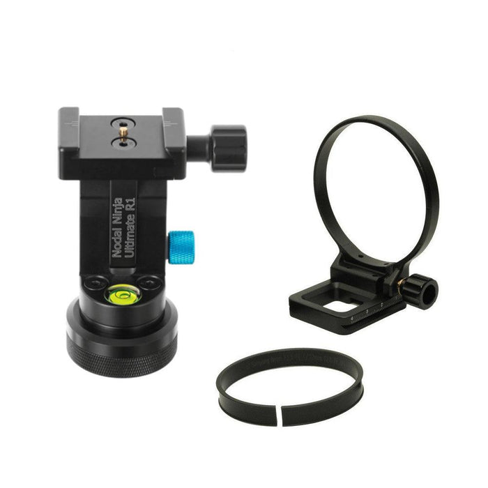 Nodal Ninja Ultimate R1 Adjustable Tilt + Rotator Mini V2 + Lens Ring for Canon 8-15 F4 + Stop plate