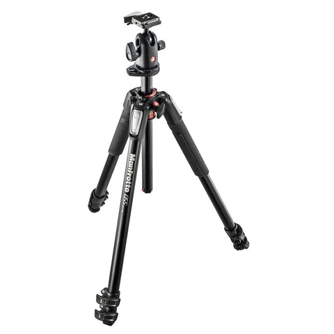 Tripods - Manfrotto MK 055XPRO3-BH, Alu 3-section Horizontal Column Tripod + 498RC2 Ball Head Set
