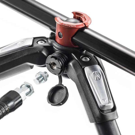 Manfrotto MK 190XPRO3-BH, alu 3-section horizontal column tripod + 496RC2 ball head set Tripods Manfrotto