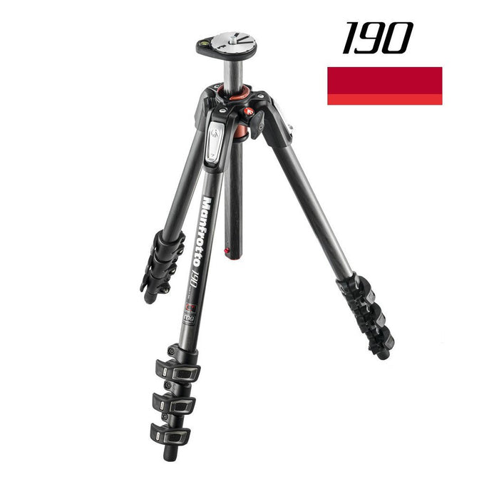 Tripods - Manfrotto MT 190CXPRO4, Carbon 4-section Horizontal Column Tripod