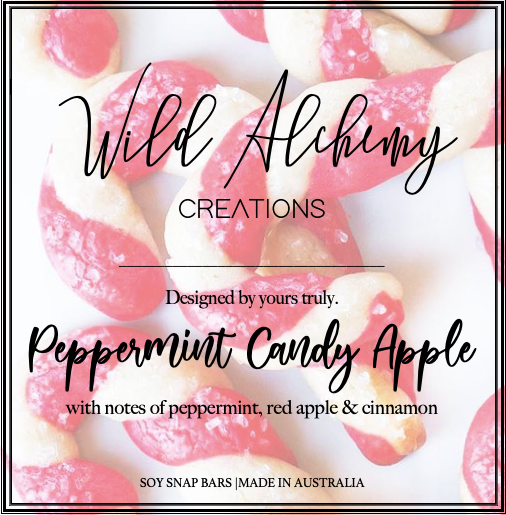 Peppermint Candy Apple Snap bar