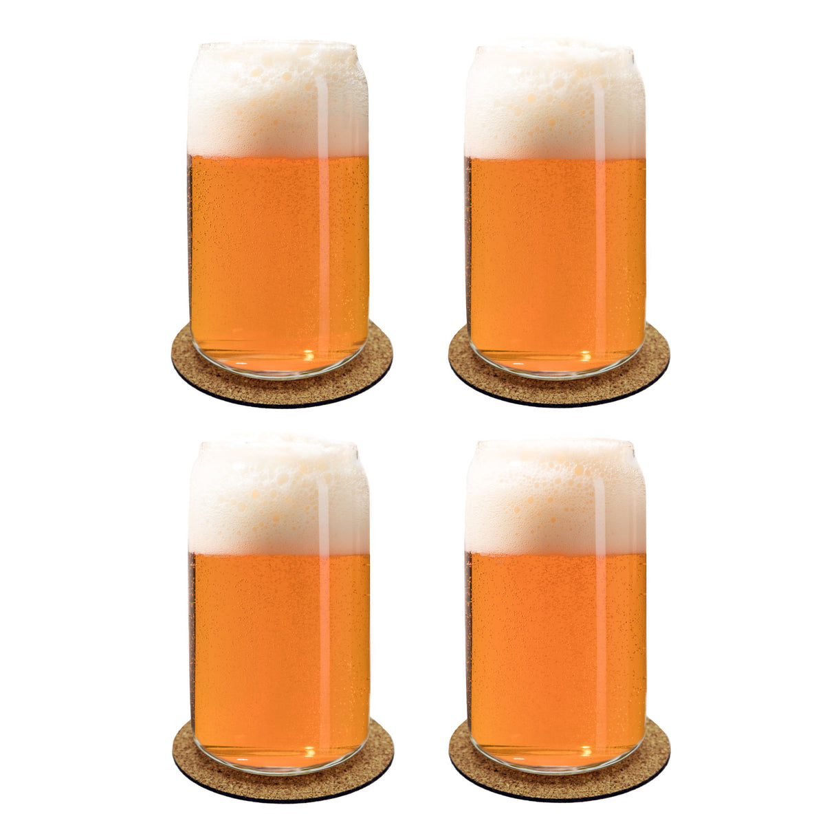 Ecodesign drinkware libbey beer can with coasters