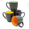 Bistro coffee mug, 4 piece set, 14 ounce ceramic