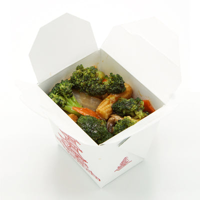 Takeout Food Container Pagoda Boxes - Microwaveable - Pint 16 oz - Pack of 25 - Disposable - Recyclable - Easy Fold and Close