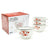 20-ounce footed ceramic white soup bowls with handles
