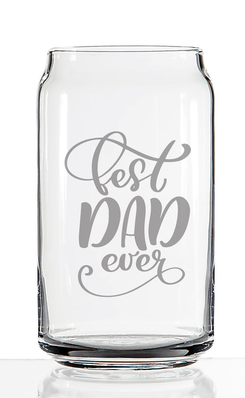 Best Dad Ever - Etched Pint Beer Glass 16 oz - Perfect Gift On For Dad and Grandpa