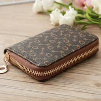 Women Mini Zipper Wallet Leather Purse and Card Holder