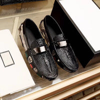 Real leather designer dress shoes