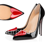 Designer red bottom heels