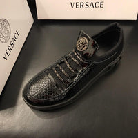 Fashion men's designer medusa shoes