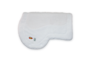 """16"" AQHA Pad - White Fleece"
