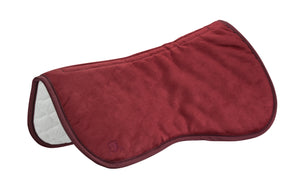 Burgundy Ultrasuede English Half Pad
