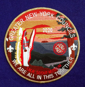 Jacket Patch,Ten Mile River Scout Museum, 2020 COVID-19 Fund Raiser For The Greater New York Councils Due To The Summer Shut Down
