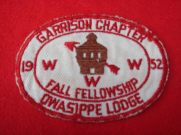 7 eX1952 Owasippe Garrison Chapter Used