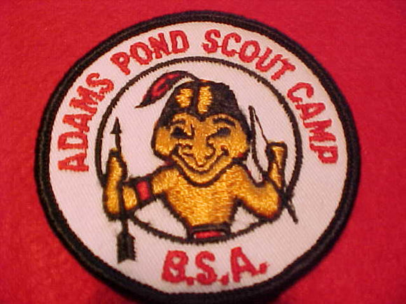 ADAMS POND SCOUT CAMP, 1960'S, BLACK BORDER
