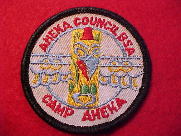 AHEKA, AHEKA COUNCIL, 1960'S, ROLLED EDGE