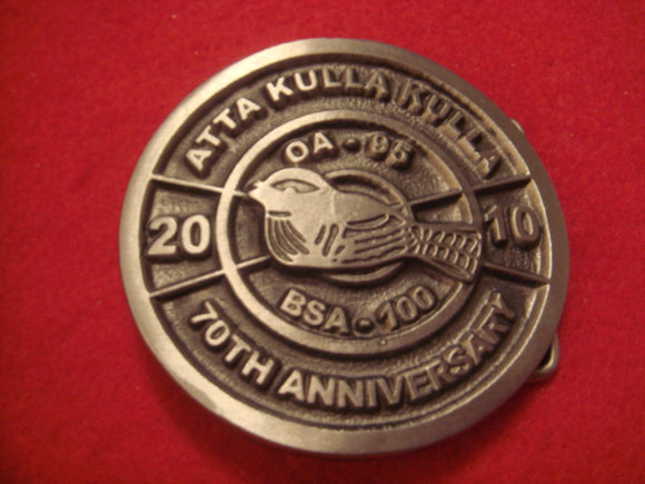 185 Atta Kulla Kulla 70th Anniversary 2010 Belt Buckle