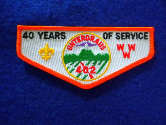 402 F3 Onteroraus 40 Yrs. Of Service 1988