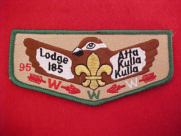 185 S19 ATTA KULLA KULLA, serial numbered.