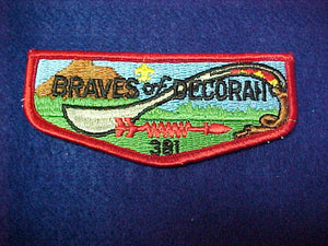 381 S2? BRAVES OF DECORAH