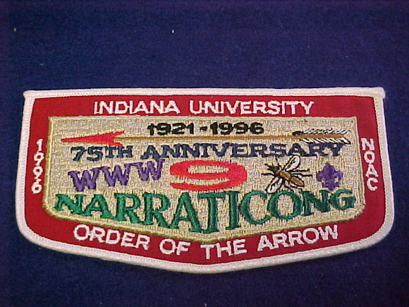 9 F2 narraticong, indiana university, 75th anniv., 1996 noac