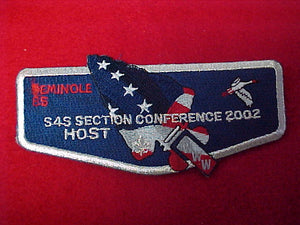 85 S38 seminole,s4s section conf, host, 2002
