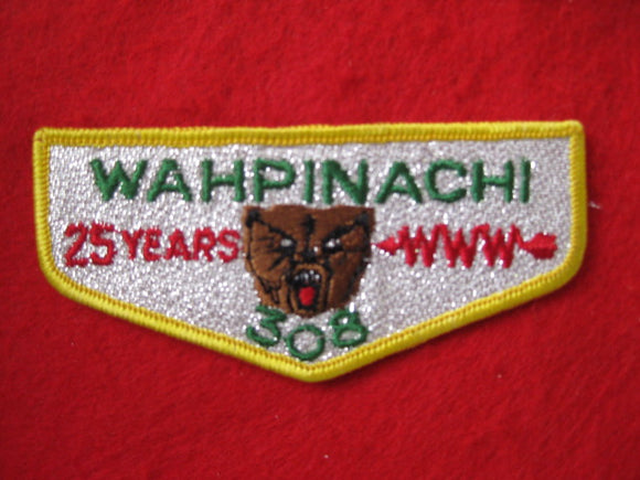 308 S4 Wahpinachi25 Years , 25th Anv, Merged 1973
