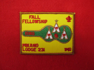 231 eX1980 Mikano, Fall Fellowship