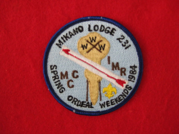 231 eX1984-1 Mikano, Spring ordeal Weekends