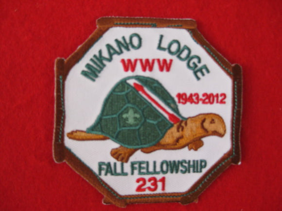 231 eX2012-? Mikano, Fall Fellowship