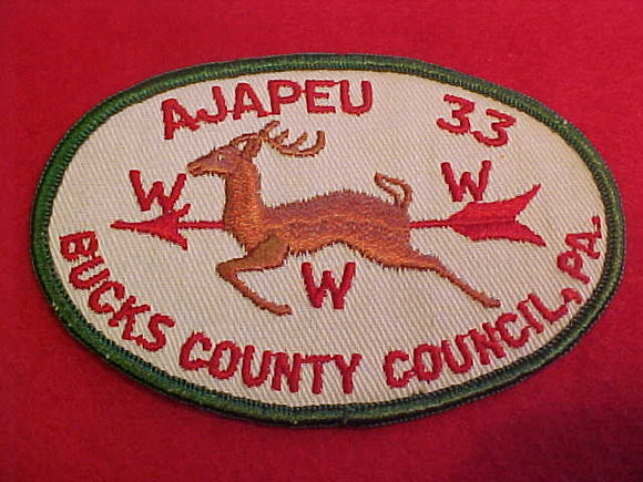 33 X5a Ajapeu, Bucks County Council