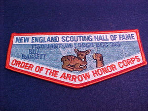 164 S51 Tisquantum, Bill Bassett, New England Scouting Hall of Fame
