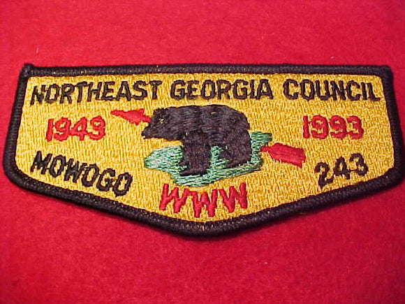 243 S26 Mowogo, Northeast Georgia Council50th Anniv., 1943-1993