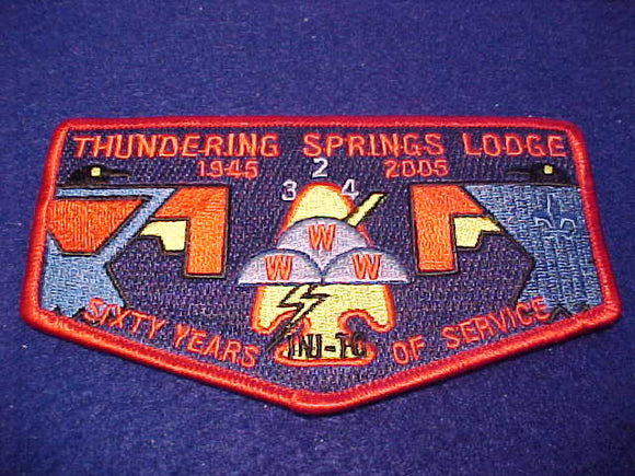 324 S57 Ini-To, Thundering Springs Lodge, 60th Anniv., 1945-2005