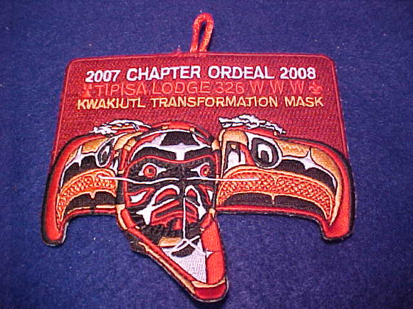 326 eX2009? Tipisa, Chapter Ordeal, 2007-08, Kwakiutl Transformation Mask