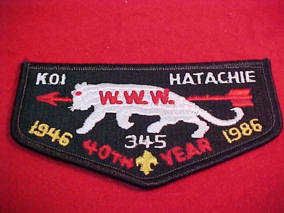 345 Qs5 Koi Hatachie, 40th year, 1946-1986