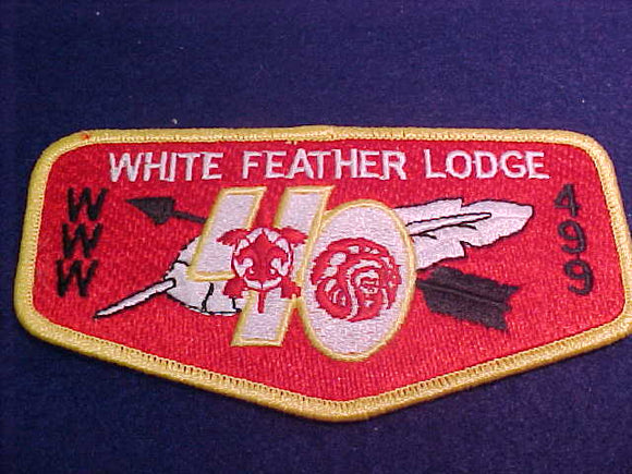 499 S12 White Feather, 40th Anniv.