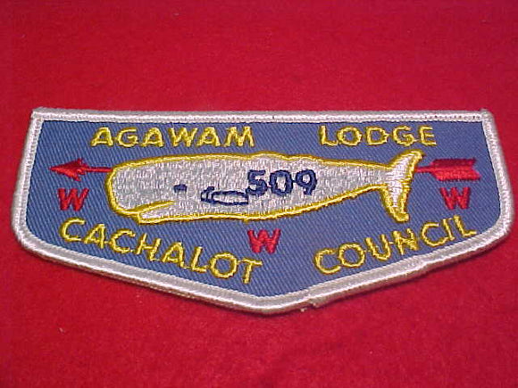 509 F1 Agawam, Cachalot C., first flap for scout shirt