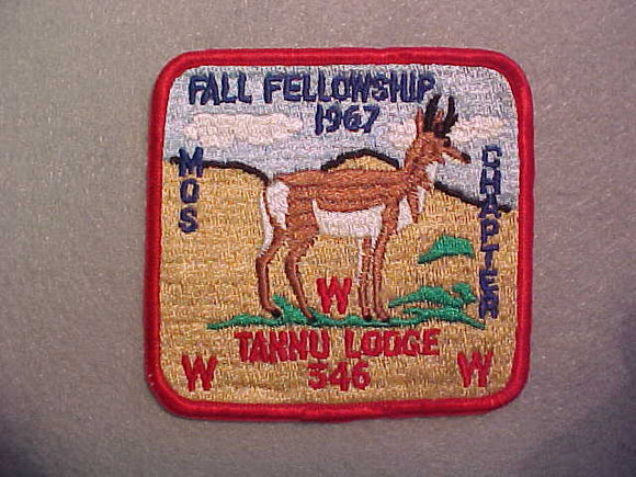 346 eX1967-? TANNU MOS CHAPTER FALL FELLOWSHIP