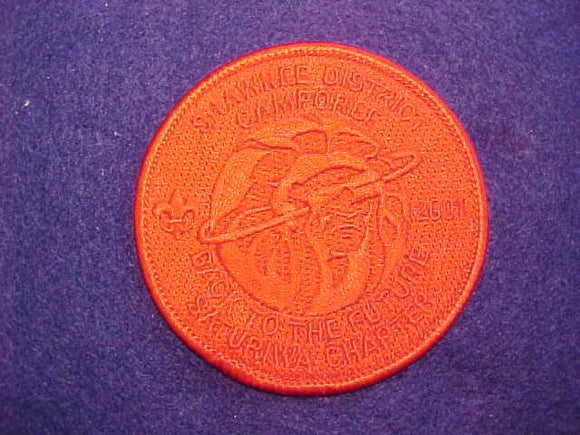 200 eR2001-1 ECHOCKOTEE LODGE, 2001 SHAWNEE DISTRICT CAMPOREE, SATURIWA CHAPTER, RED GHOST