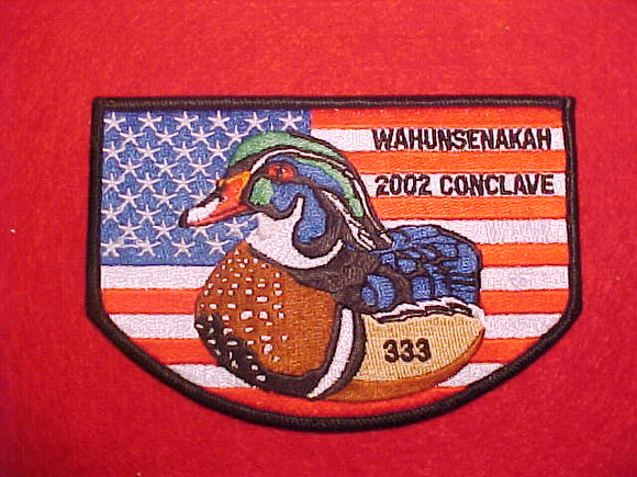 333 S19 WAHUNSENAKAH, 2002 CONCLAVE