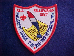 230 EX1987 PELLISSIPPI, 1987 FALL FELLOWSHIP