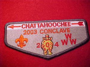 204 S97 CHATTAHOOCHEE, 2003 CONCLAVE, DELEGATE