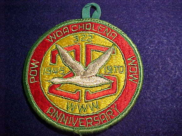 322 eR1970 WOA CHOLENA, 1970 POW WOW, 25TH ANNIV., 1945-1970