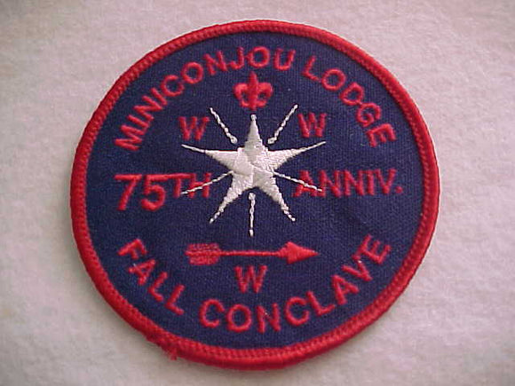 438 eR1990-2 MINICONJOU, 1990 FALL CONCLAVE, 75TH ANNIV.