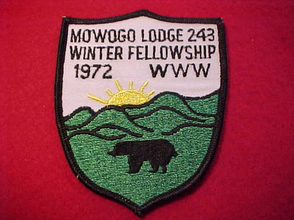 243 eX1972-2 MOWOGO, 1972 WINTER FELLOWSHIP