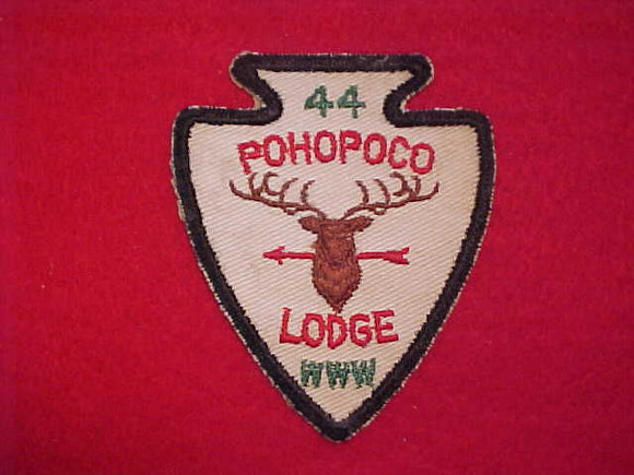 44 A1 POHOPOCO, MINT FRONT, GLUE ON BACK